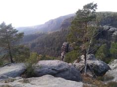 Widok z jednego z punktów widokowych przy Pravčickej Bramie.